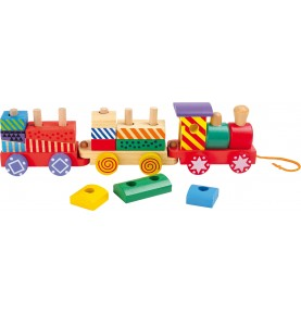 Train en bois formes - Jeu Montessori - Jouet