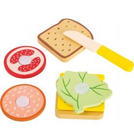 Sandwich à construire - Jouet Montessori