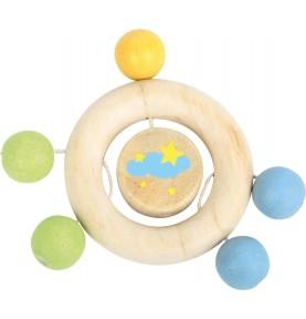 Anneau de dentition en bois pour bébé