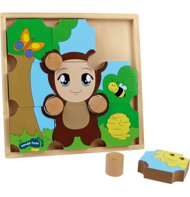 Gros puzzle en bois - Montessori