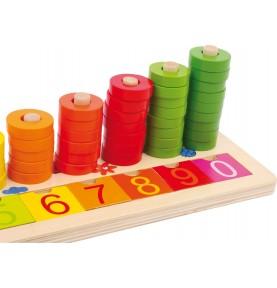 Plateau des chiffres Montessori : Apprendre à compter
