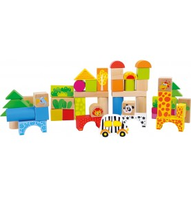 Wooden Construction Toy - Zoo