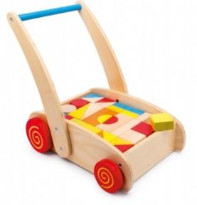 chariot bois : pousseur bébé