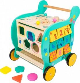 chariot de marche bois : trotteur bébé pas cher