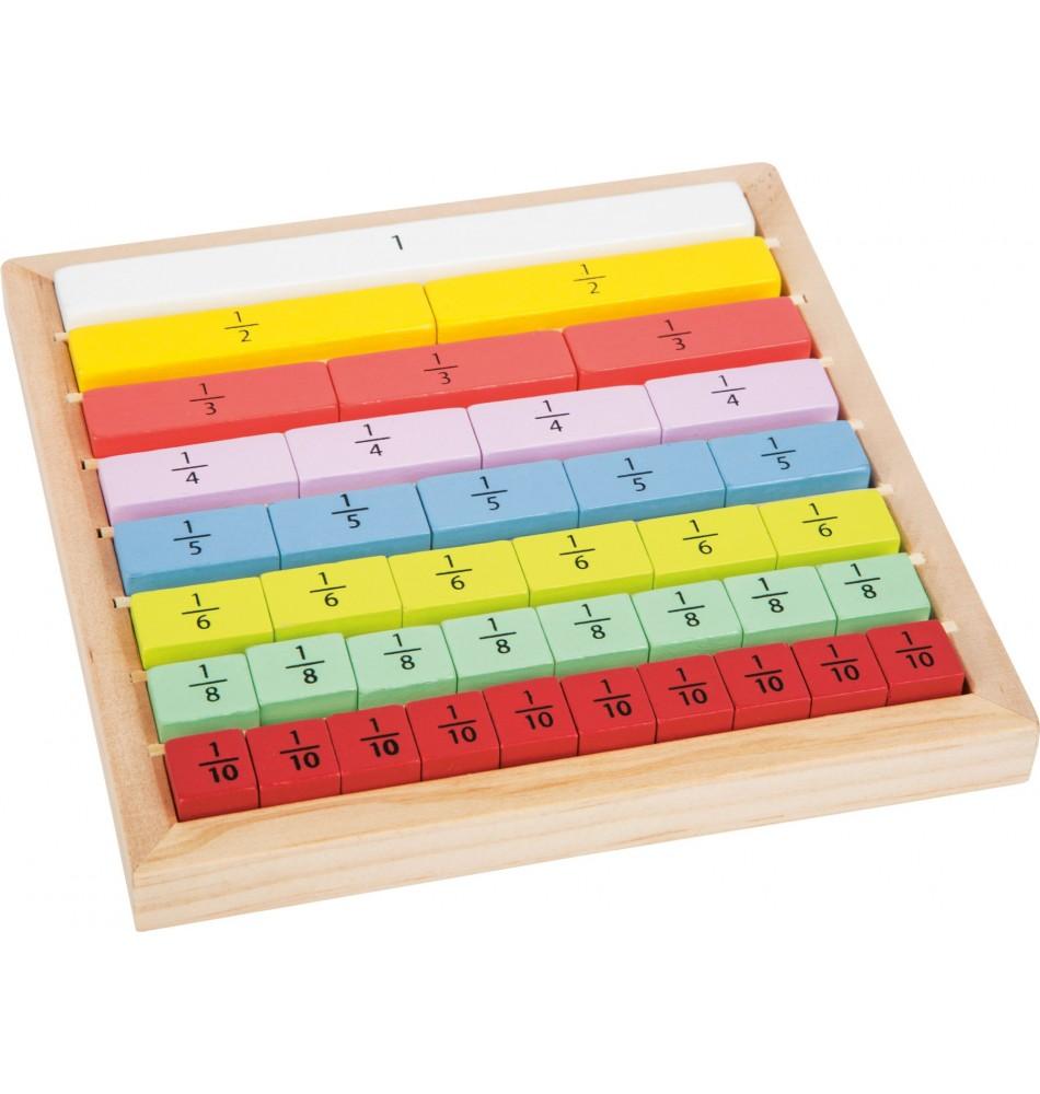 Matériel Montessori : Apprentissage fractions