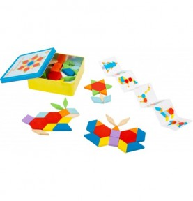 Jeu de tangram en bois : Jouet Montessori en bois