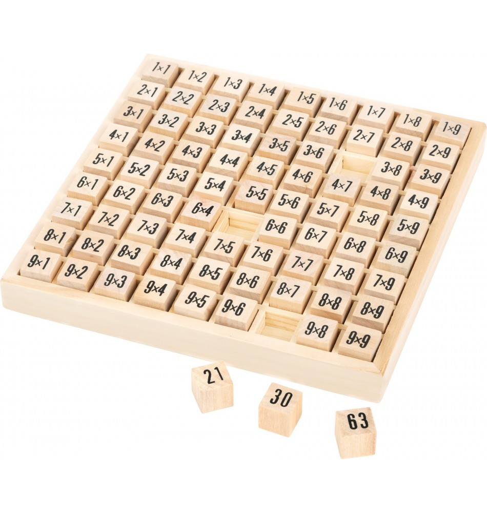 Matériel Montessori : Table des Multiplications