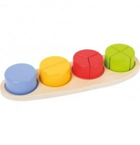 Puzzle fractions : Matériel Montessori