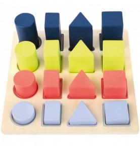 Puzzle à encastrer : Solides