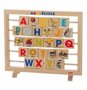 Jouet montessori : Boulier alphabet