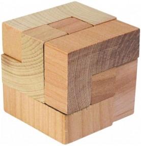 Jouet montessori : Sac rouge de casse tête - Cube tetris