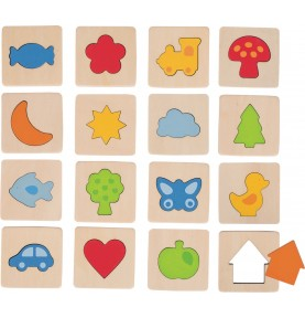 Memory toy individual shapes