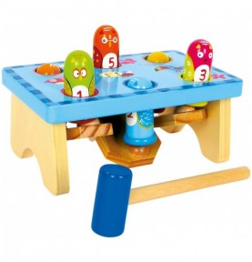 Jouet à marteler - Oiseaux Montessori
