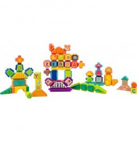 Jeu de construction à picots - Safari - Grand format Montessori