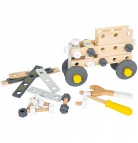 Jeu construction véhicule - Gris/Jaune Montessori