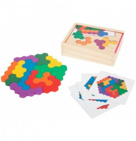 Puzzle hexagone - Nid d'abeille Montessori