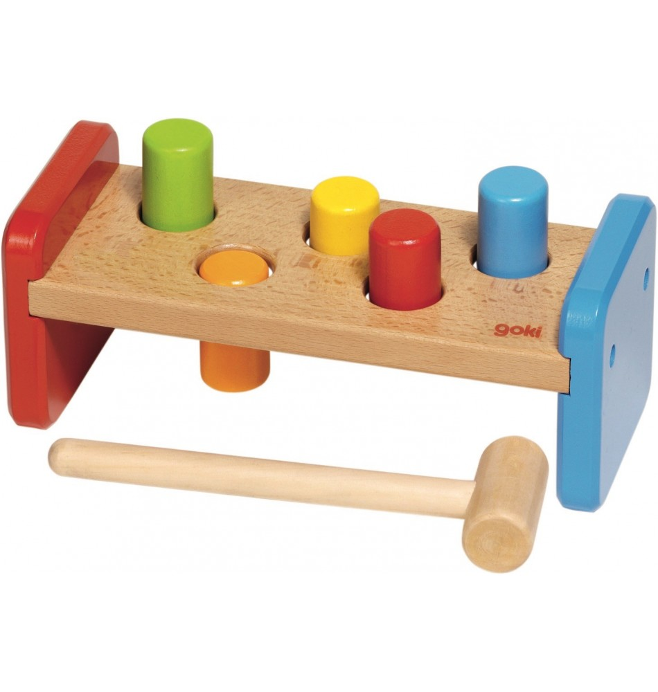 Banc à marteler couleurs Montessori