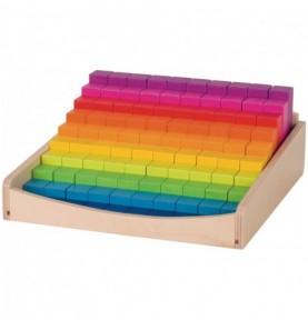 Réglettes de calcul arc-en-ciel Montessori