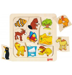 Puzzle-association habitats