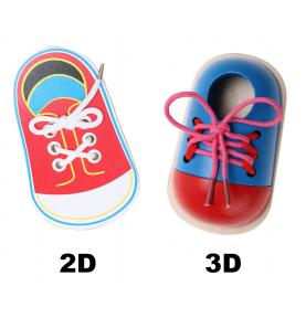 Chaussure pour apprendre à faire ses lacets